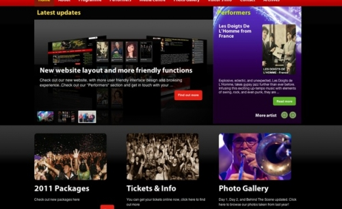Jazz Borneo 2011 landing page