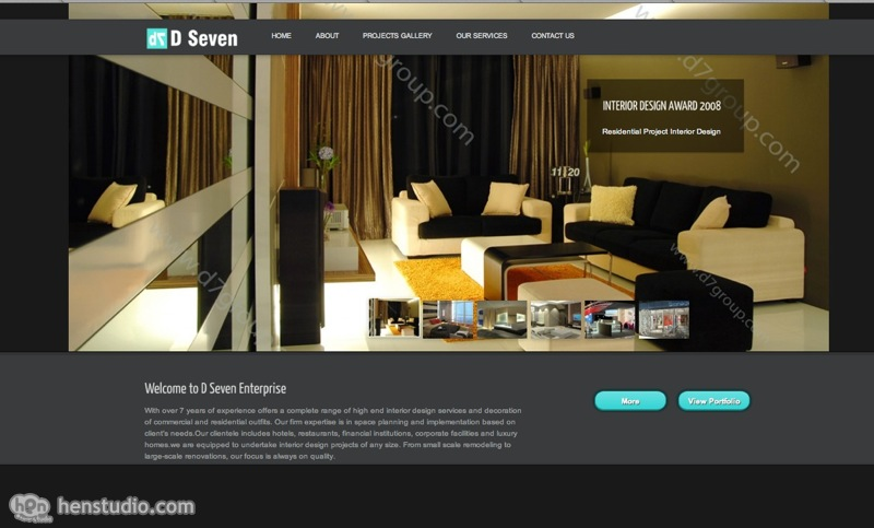 d7 interior design portfolio website design - Interior Design Pages