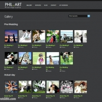 Portfolio page with navigate friendly gallery listing