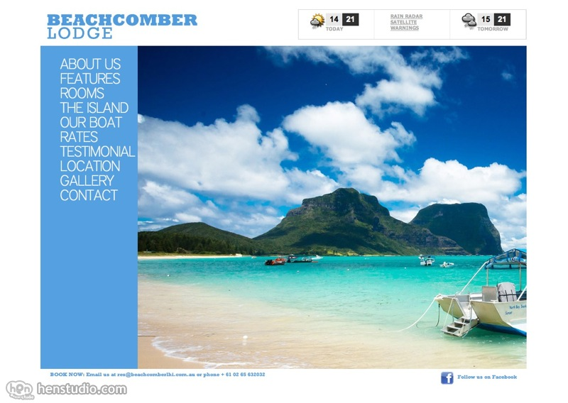 Beachcomber Lodge website production work