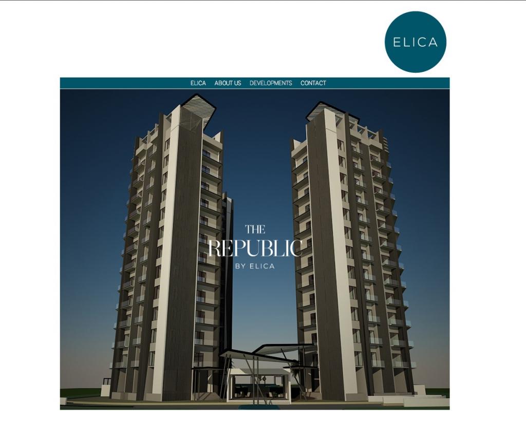 Elica – Property development company corporate website