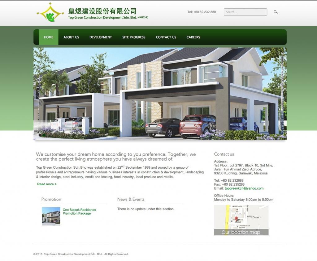 Top Green Construction Development Sdn. Bhd. Website Redesign