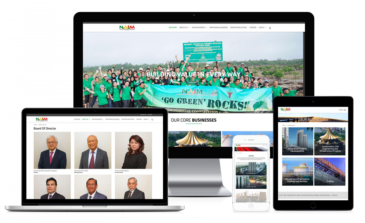 Naim Holdings Berhad New Website (2016) design and setup
