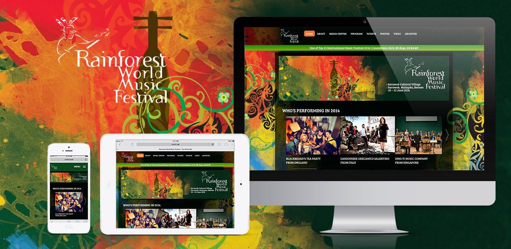 Rainforest World Music Festival official website revised (rwmf.net – 2013-2015)
