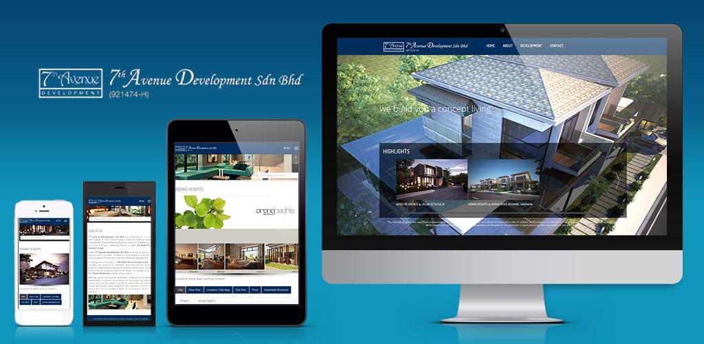 7th Avenue Development Sdn Bhd website design and setup