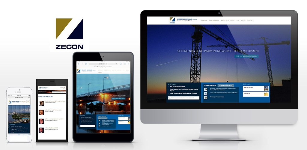 Zecon Berhad new website revised