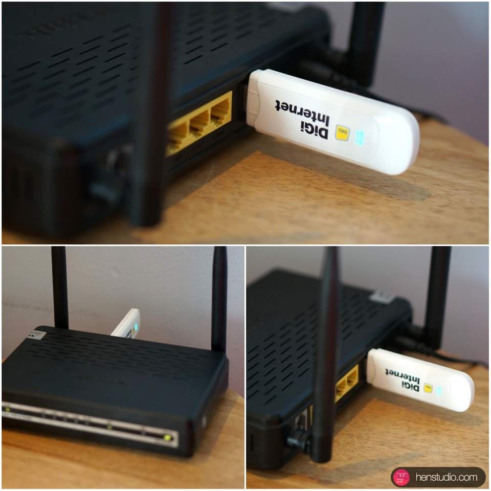 How to connect 3G router