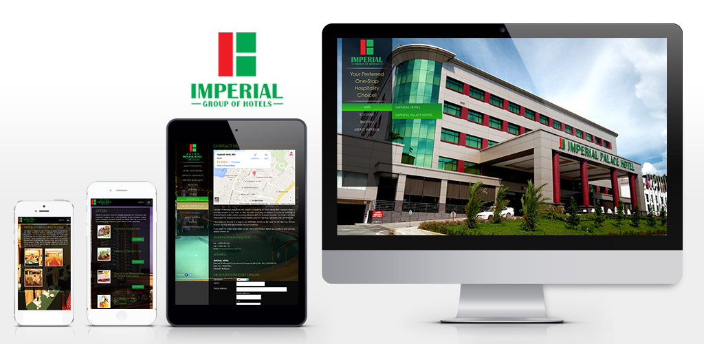 Imperial Hotel official website redesign and setup