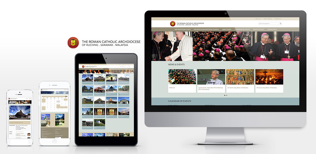 The Roman Catholic Archdiocese of Kuching, Sarawak, Malaysia official website redesign and setup