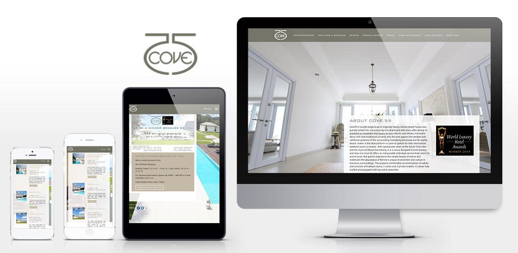 Cove 55 – boutique resort official website design