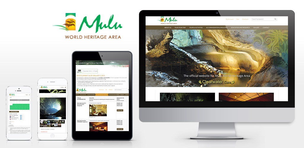 Mulu National Park official website design (2015 – 2018)