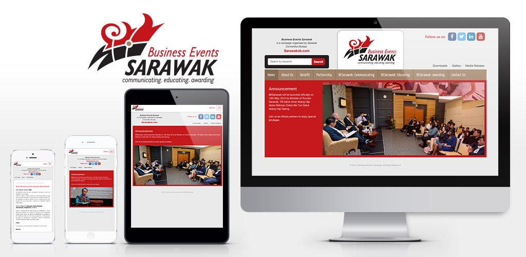BESarawak (Business Events Sarawak) official website design and built