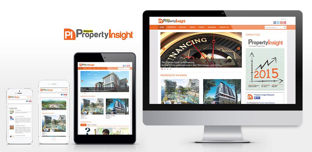 PropertyInsight Magazine Site Design and Build