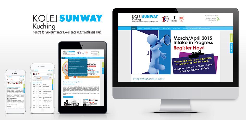 Kolej Sunway Kuching website re-design