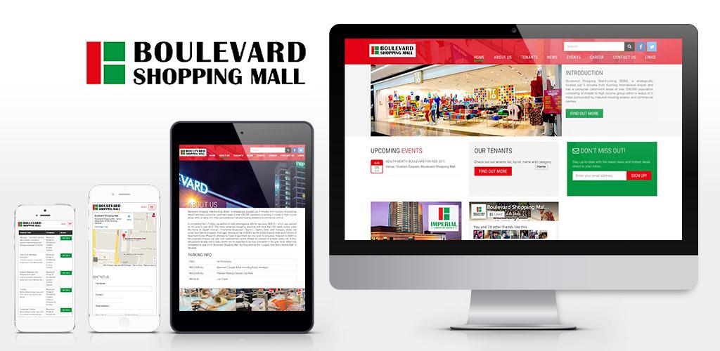 Boulevard Shopping Mall, Kuching website design and setup
