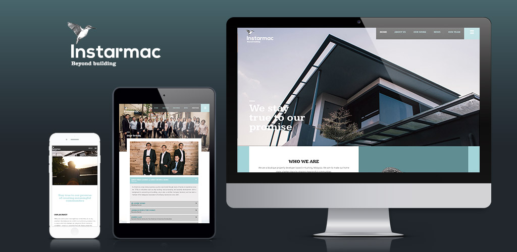Instarmac Sdn Bhd website redesign and production