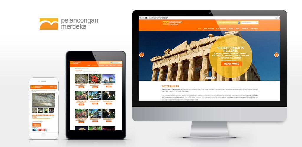 Pelancongan Merdeka Sdn Bhd Tours Service Website Design