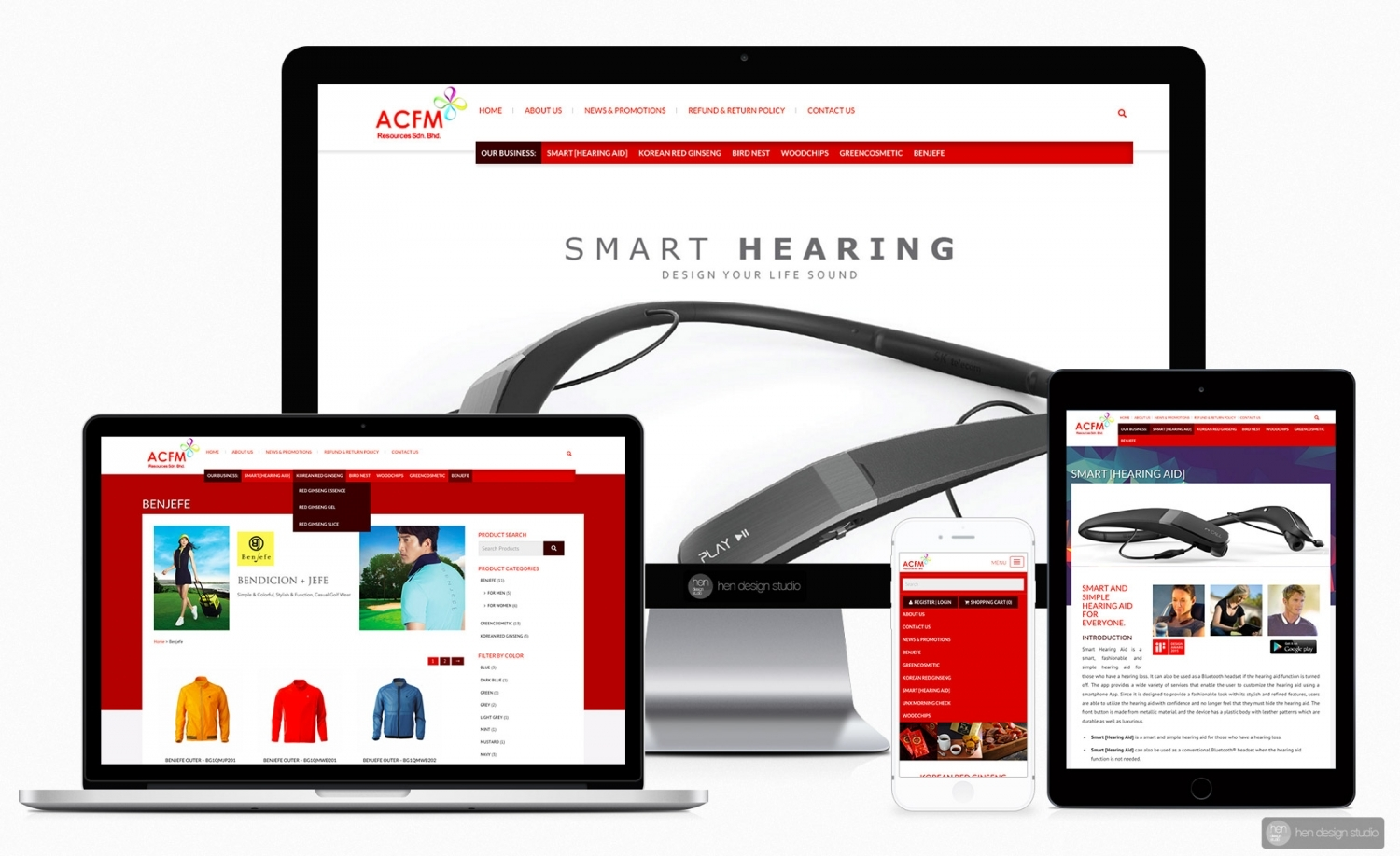 ACFM Resources Sdn. Bhd. product catalog + e-commerce ready website design