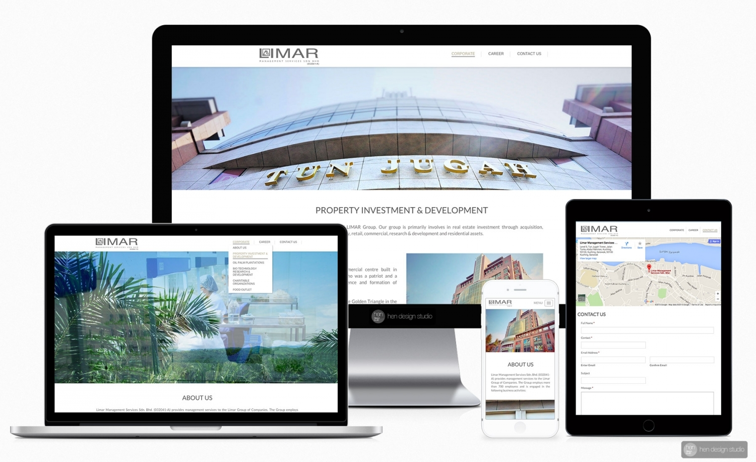 Limar Management Services Sdn. Bhd. corporate website design