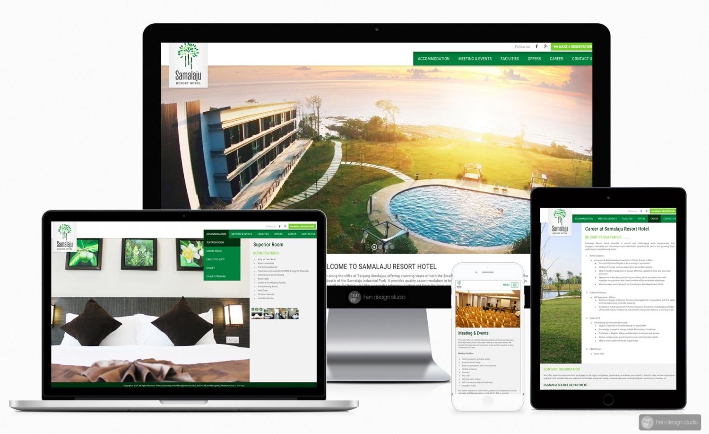Samalaju Resort Hotel website design and setup