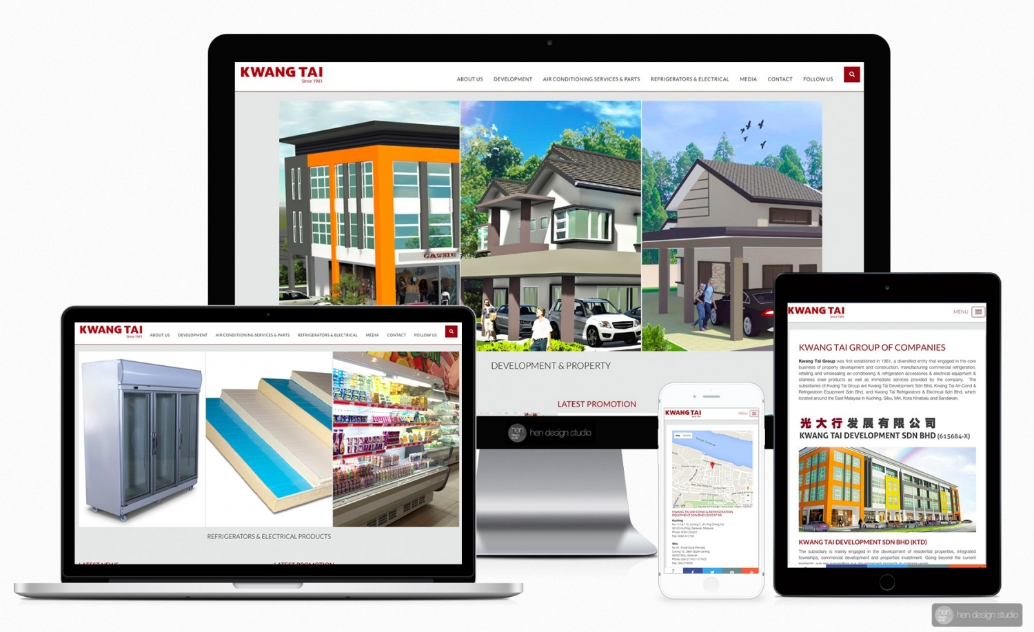 Kwang Tai Group of Companies official website design and setup