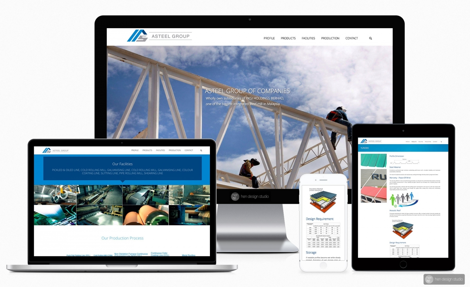 Asteel Group of Companies official website design and setup