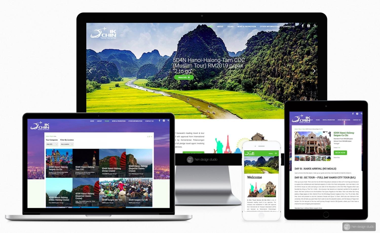 Ik Chin Travel Service (K) Sdn Bhd website design and setup