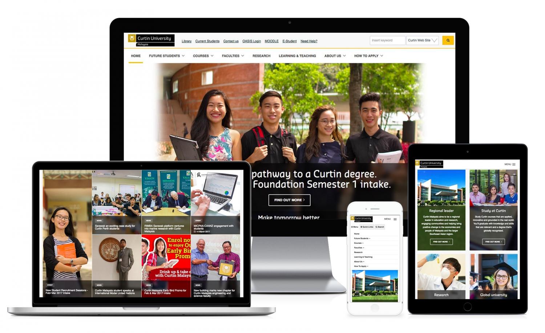 Curtin University Malaysia Website Design and Setup