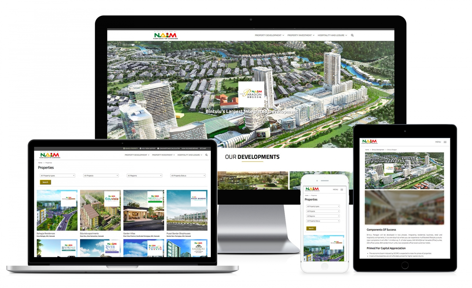 Naim Property (By Naim Holdings Berhad) Website design and setup