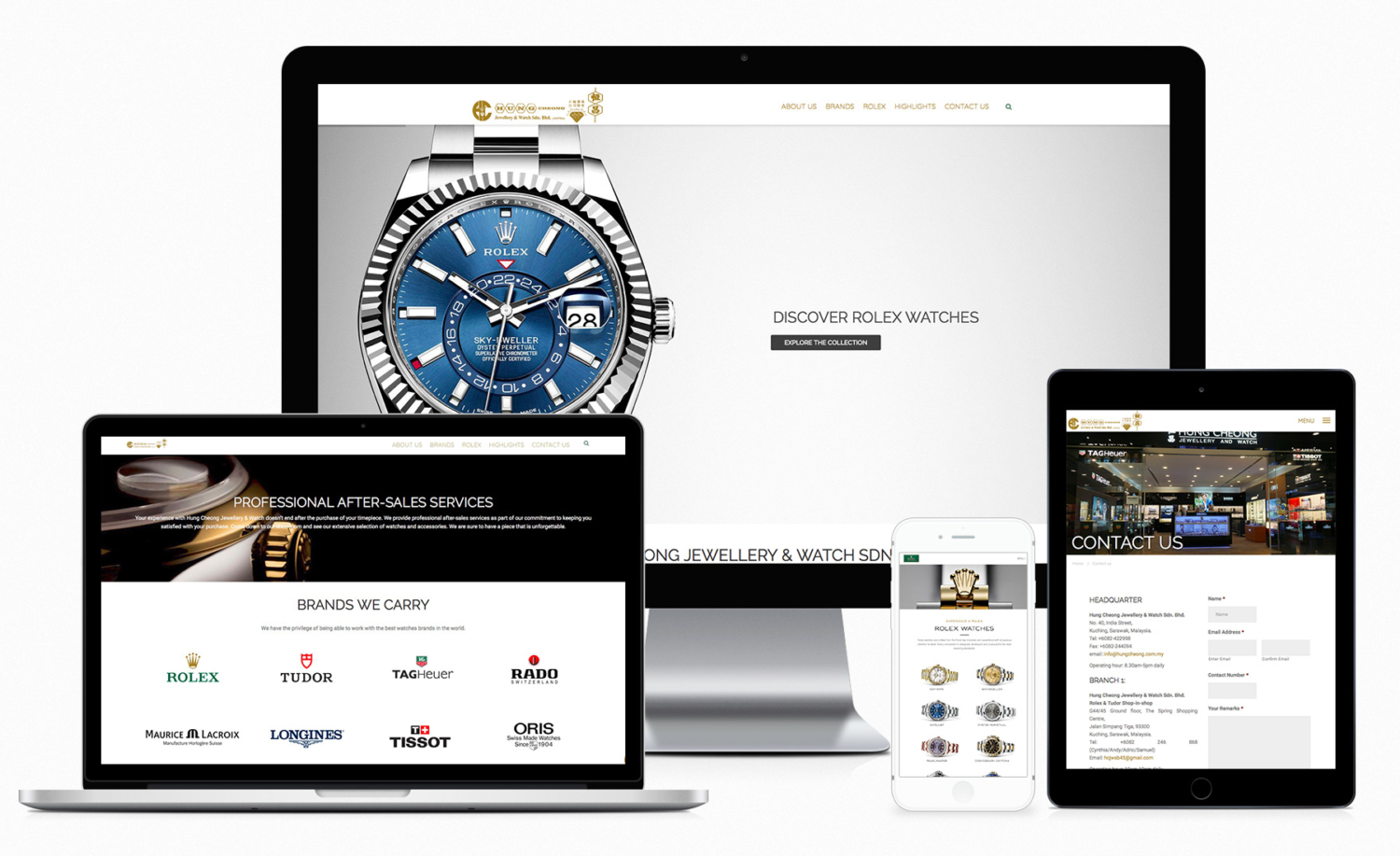 Hung Cheong Jewellery & Watch Sdn. Bhd. Official Website Design