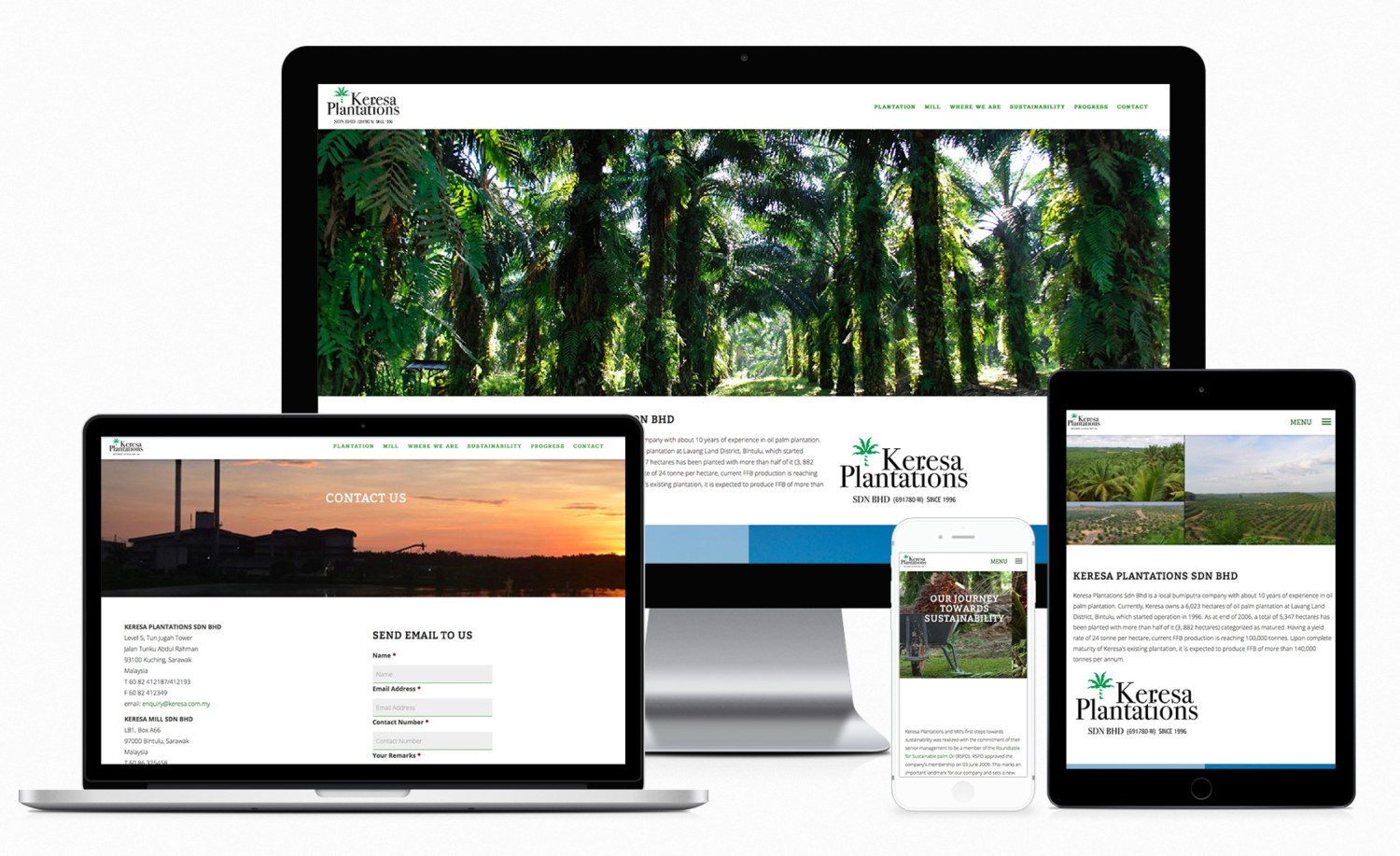 Keresa Plantations Sdn Bhd Official Website Design