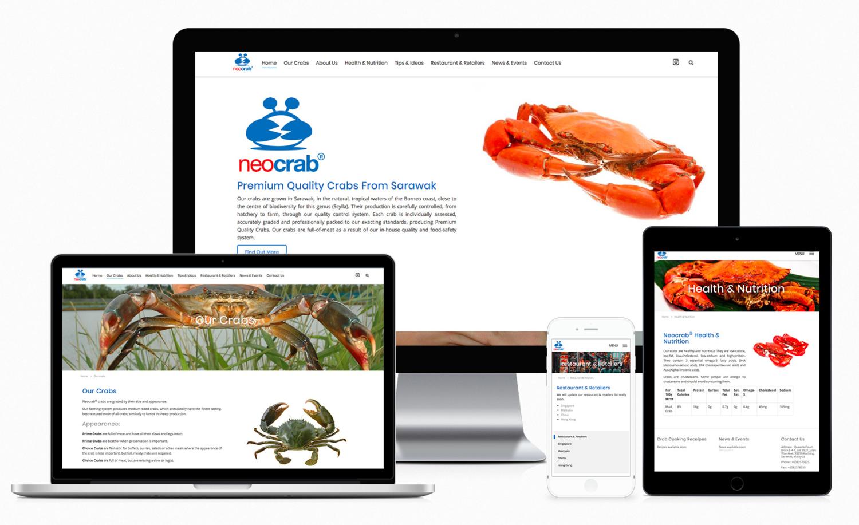 Neocrab® – Premium Quality Crab Supplier Website Design