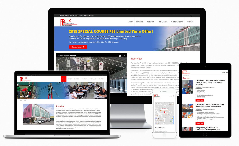 Pusat Latihan Proaktif (Education & Training) Official Website Design