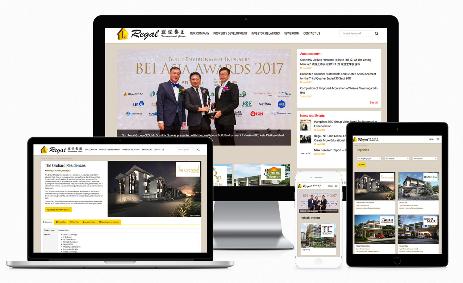 Regal International Group Official Website Design