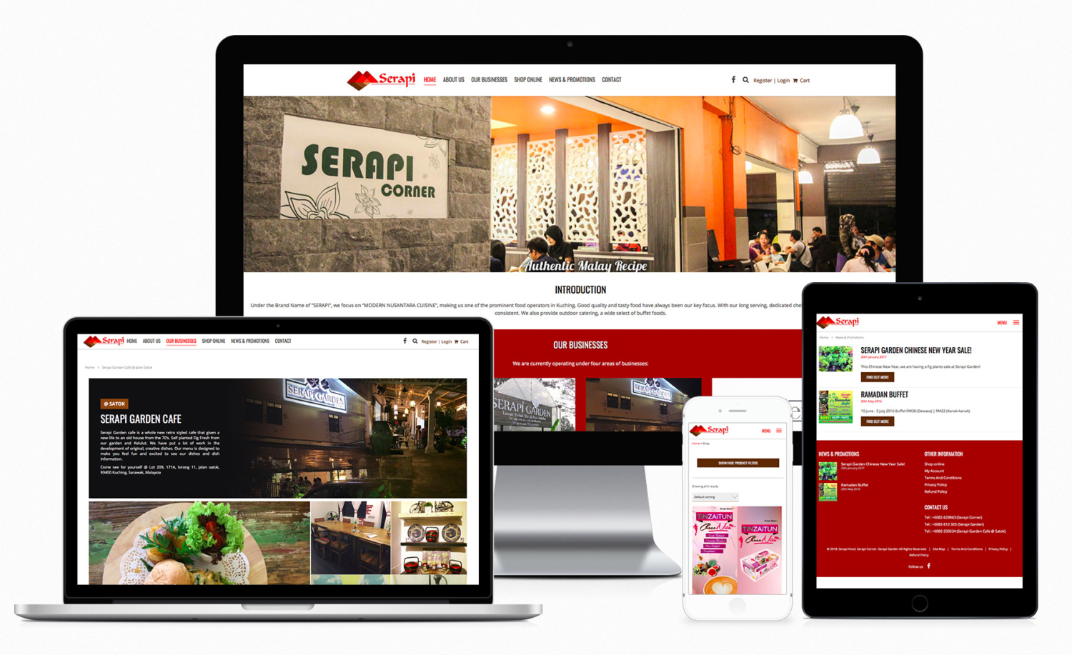 Serapi brand  – food operators website design