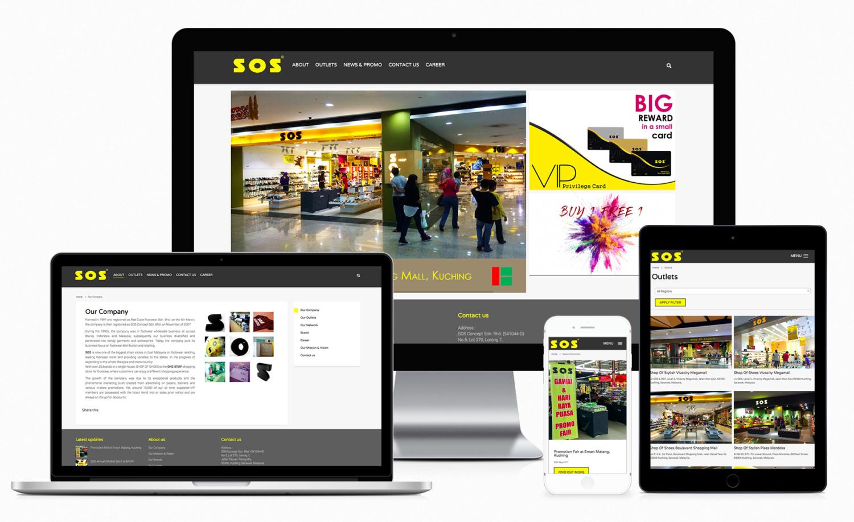 SOS Concept Sdn. Bhd. Official Website Design