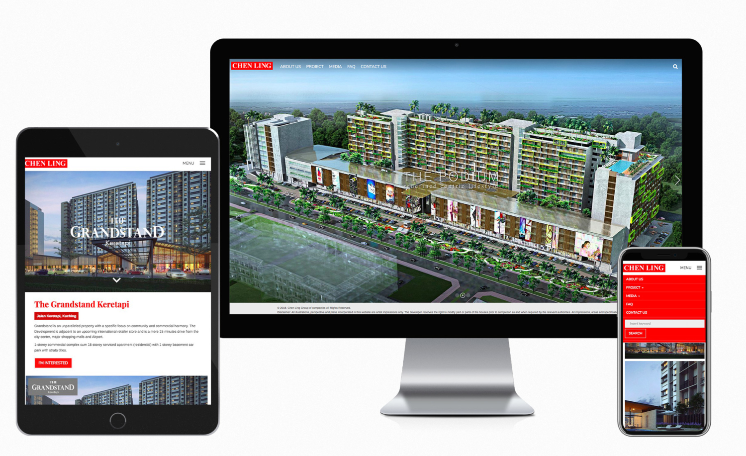 Chen Ling Group of Companies Website Design and Built
