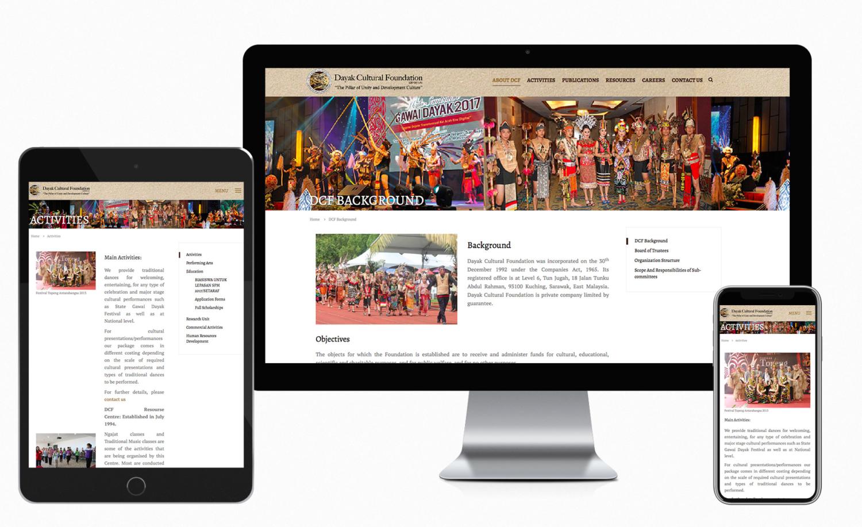 Dayak Cultural Foundation (Organization) website design and built
