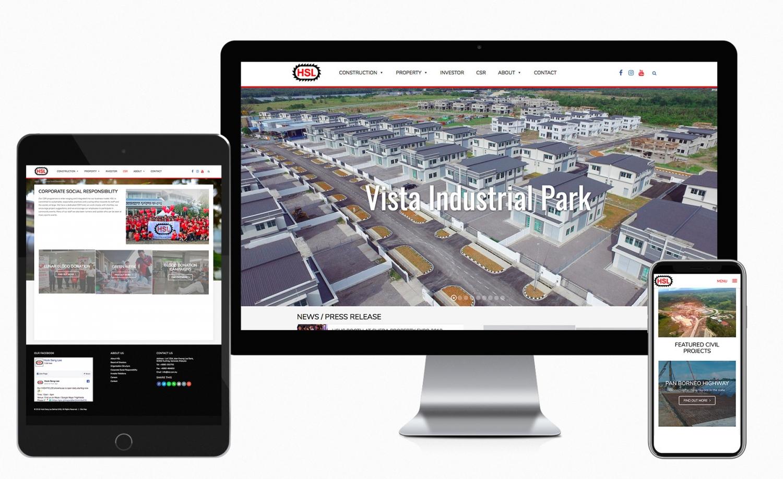 Hock Seng Lee Berhad (HSL) Corporate Website Design and Setup