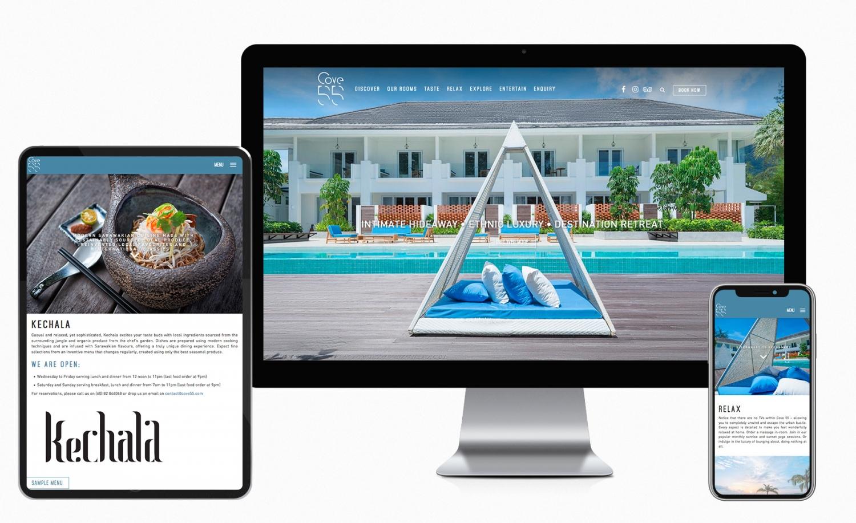 Cove55 new website design and setup