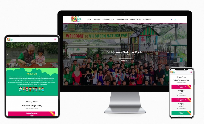 VH Green Nature Park Website Design and Setup