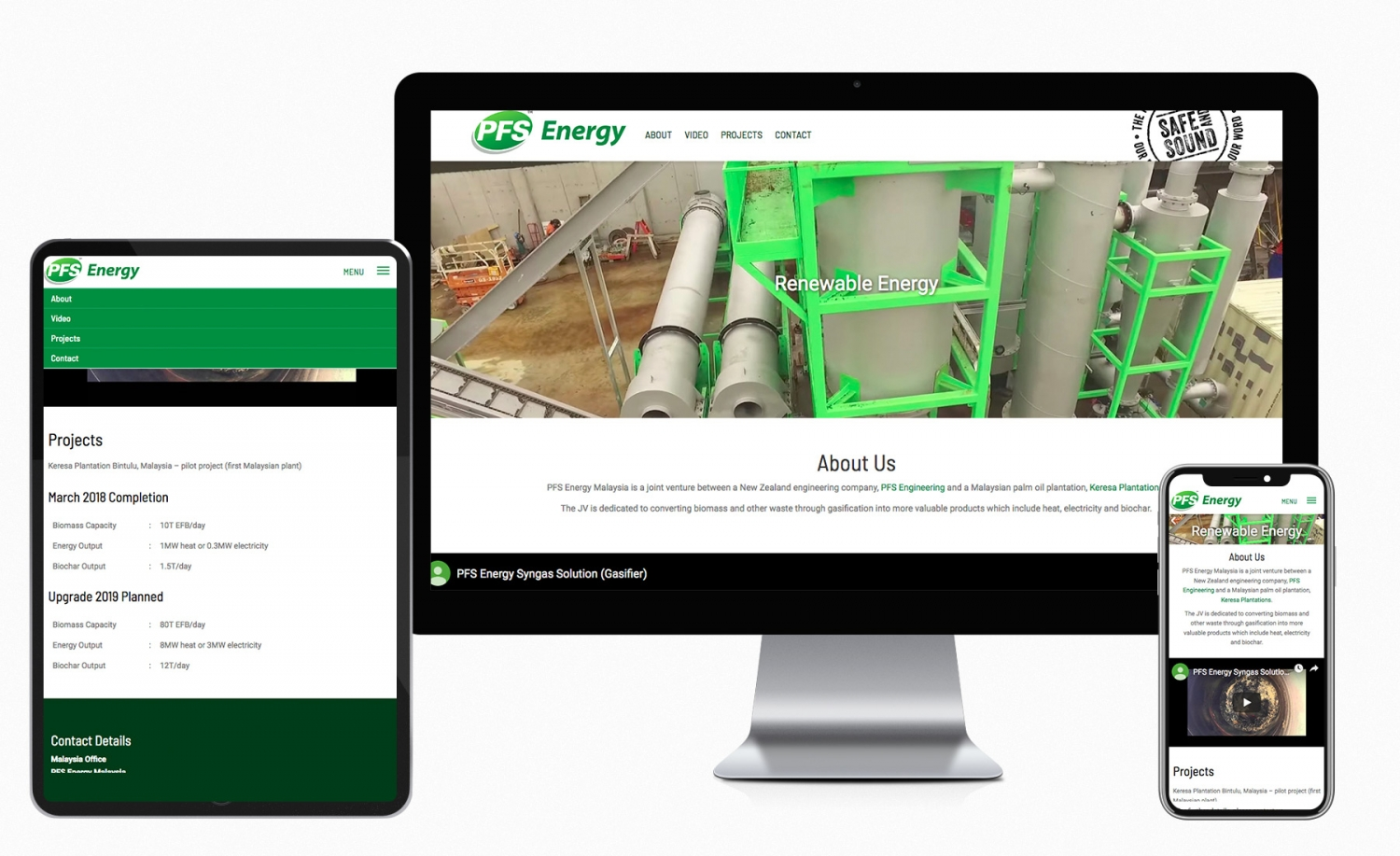 PFS Energy Malaysia one page design