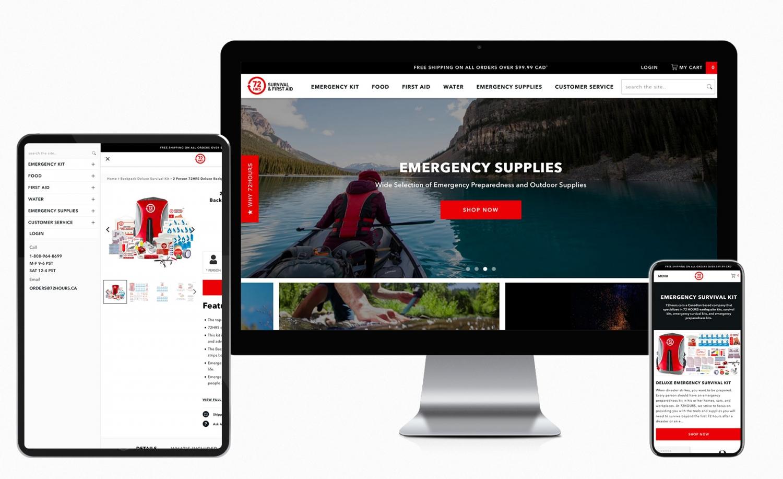 72Hours.ca Shopify Website Theme Development Works