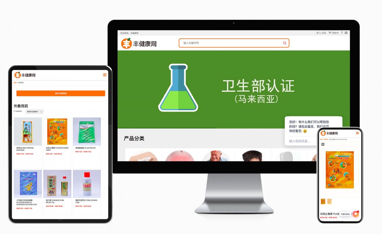 Feng.com.my e-commerce website design and setup