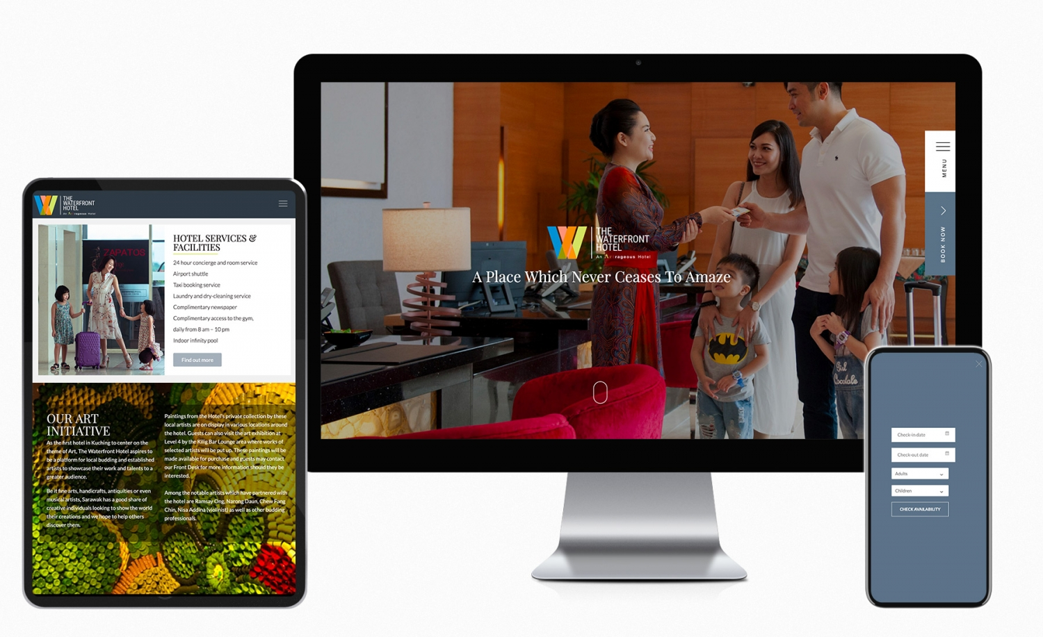 The Waterfront Hotel Kuching website redesign and improvement