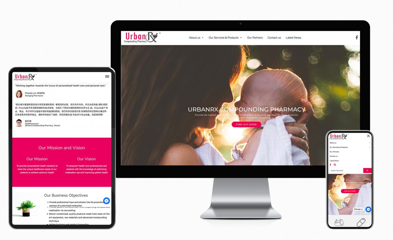 UrbanRx (Singapore) Corporate Website Design and Setup
