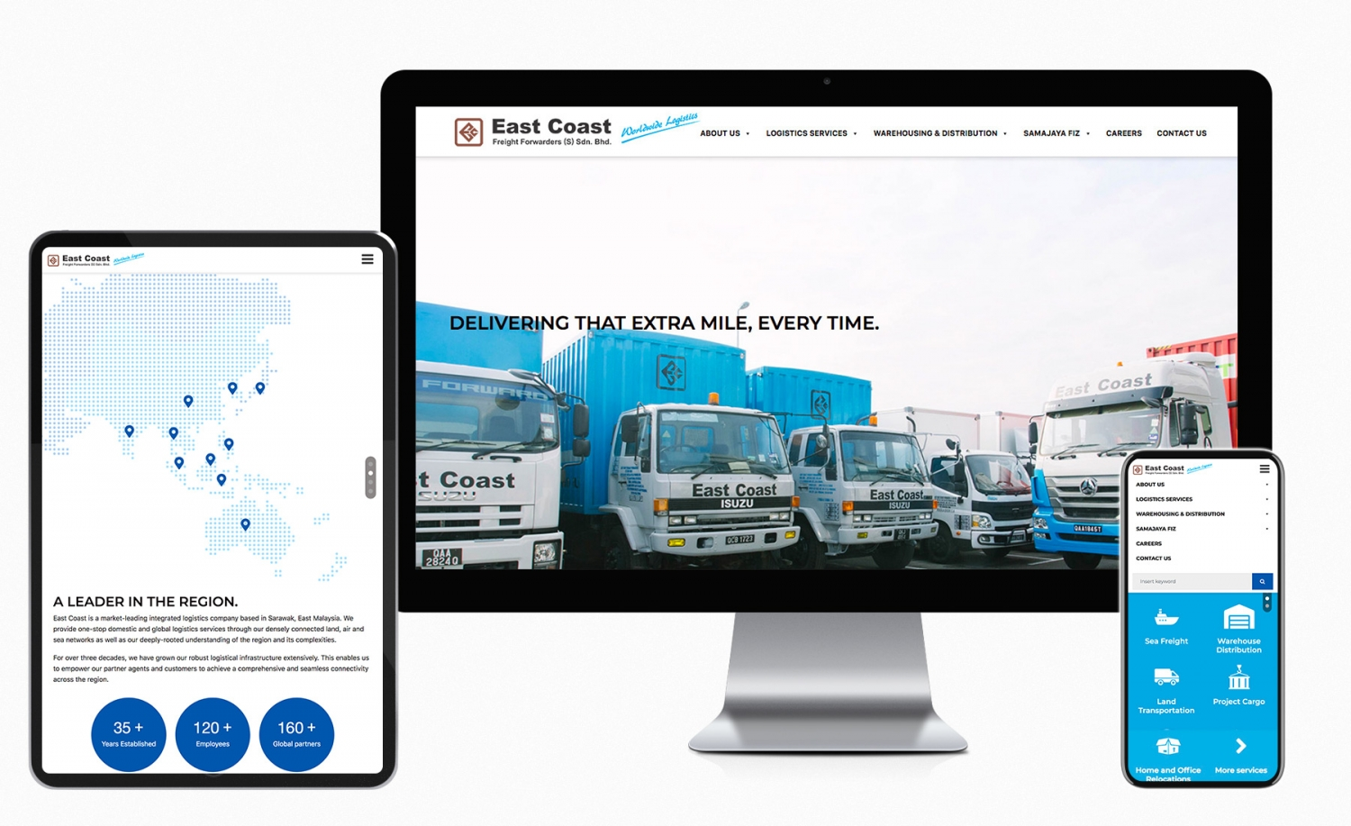 East Coast Freight Forwarders (S) Sdn. Bhd. website design and development