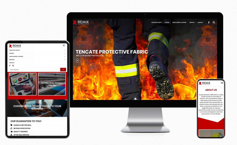 Remix Technologies Sdn. Bhd. website design and development