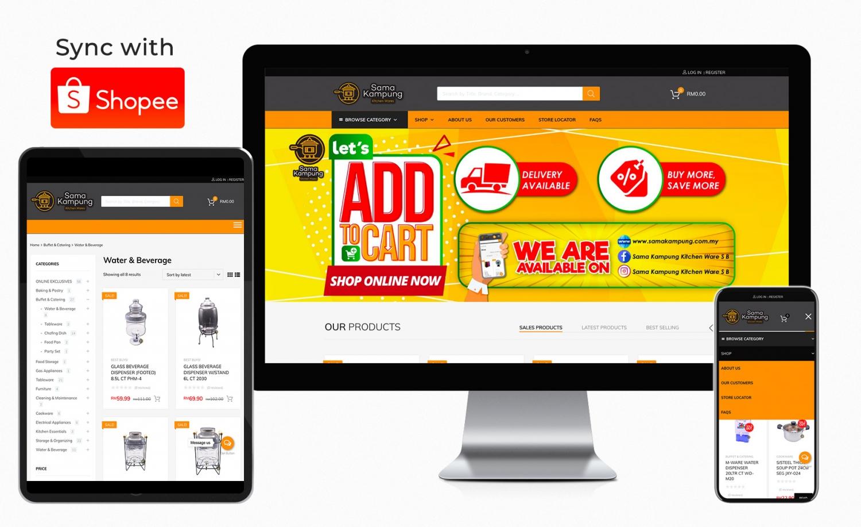 Sama Kampung Kitchen Ware ecommerce website development and setup
