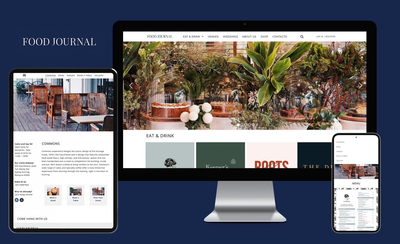 Food Journal Website Design and Development